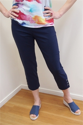 Slim 3/4 button cuff pant-meredith-Gaby's