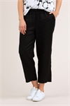 Washer linen crop pant