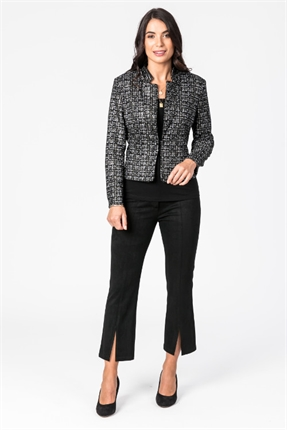 Tweed print crop jacket-jackets-and-vests-Gaby's