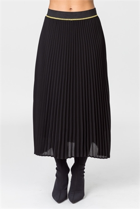 Plain pleated skirt-democracy-Gaby's