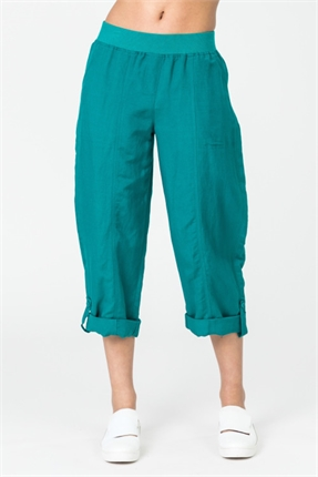 Santo 7/8 roll up pant-pants-and-leggings-Gaby's