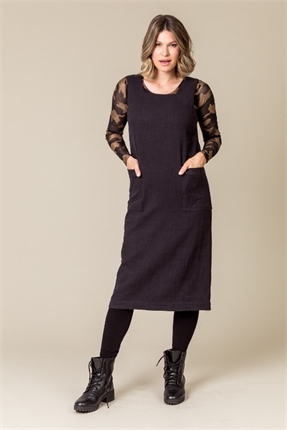 Roxie pinafore dress lined-dresses-Gaby's