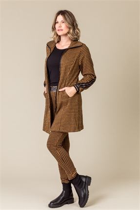 Maison gingham zip coat-coats-Gaby's
