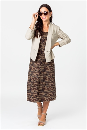 Linen 3/4 slv jacket-jackets-and-vests-Gaby's