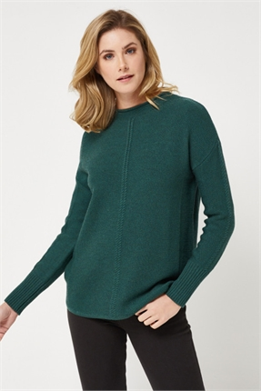 Twist funnel merino sweater-knitwear-Gaby's