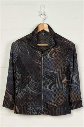 L/slv zipped jacket-tops-Gaby's