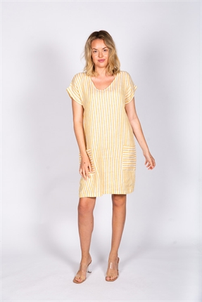 Linen dress with pockets-dresses-Gaby's