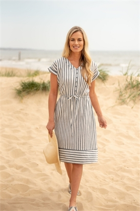 Woven stripe dress-dresses-Gaby's