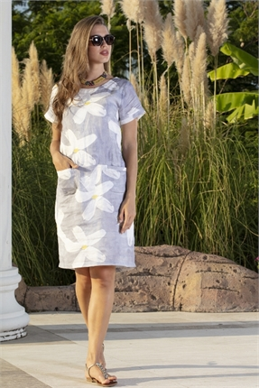 Flower pocket dress-dresses-Gaby's