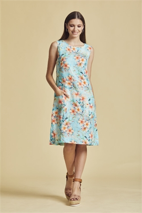Diana linen dress-newport-Gaby's