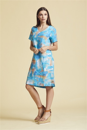 Diana 20 V neck dress-newport-Gaby's