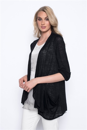 Draped jacket with pockets-picadilly-Gaby's