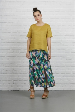 Pipped trim skirt-siren-Gaby's