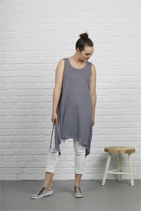 Tie side tunic-dresses-Gaby's