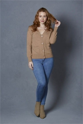 V cardigan with back detail-knitwear-Gaby's