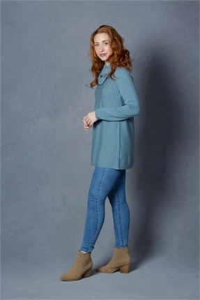 Shaped tunic cowl neck-knitwear-Gaby's