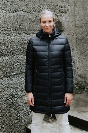 Coat with detachable hood-moke-Gaby's
