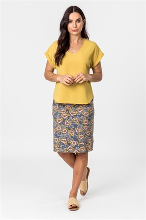 Print stretch skirt-skirts-Gaby's