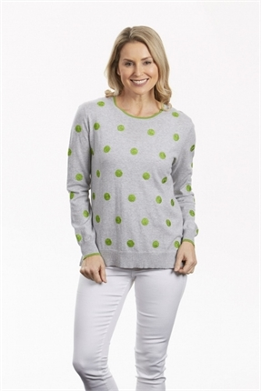 Embroidered spot tunic-knitwear-Gaby's