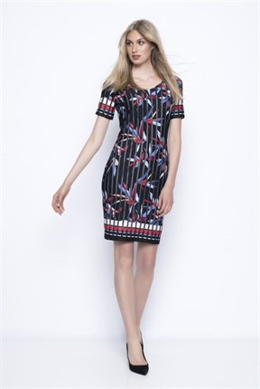 V nk s/slv dress-dresses-Gaby's